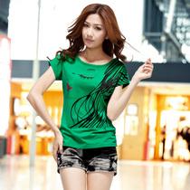 旺顶丹2013夏装新款女装短袖t恤 女韩版 宽松大码t恤上衣服女3325 价格:48.80