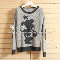 米奇米老鼠图案彩色杂线针织衫针织衫毛衣1202 价格:89.00
