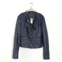 外贸原单 网格车线小立领斜襟 女皮衣 外套 0.68kg 价格:85.00