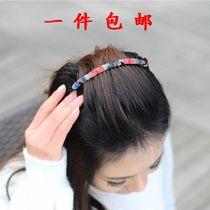 手工布艺碎花豹纹刘海宽发梳 盘发美发插梳 发饰发卡 刘海夹 头饰 价格:9.89