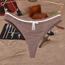欧美名品内裤 女士丁字裤 舒适柔滑蕾丝花边性感T裤全场100元包邮 价格:14.98