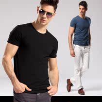 纳川夏季男装 纯色圆领短袖t恤 男半袖升级莫代尔韩版修身打底衫 价格:48.00