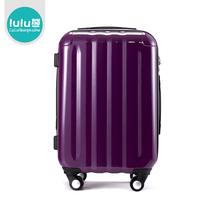 lulu熊 时尚纯色商务风旅行箱ABS PC行李箱万向轮拉杆箱箱包 价格:220.16