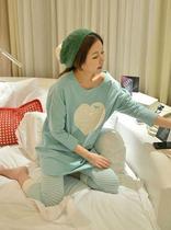 外贸特价韩国代购少女PINK长袖睡衣套装休闲宽松圆领纯棉质家居服 价格:79.00