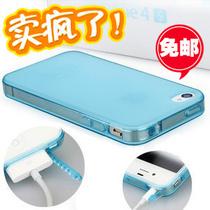 清水套 带防尘塞 苹果4手机壳 iphone4s手机壳 5 硅胶手机套 外壳 价格:9.80