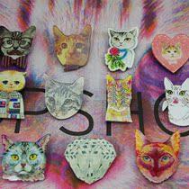 日韩系 各种彩色 猫星人 喵喵 复古猫咪 可爱有趣 胸章  胸针 价格:4.50