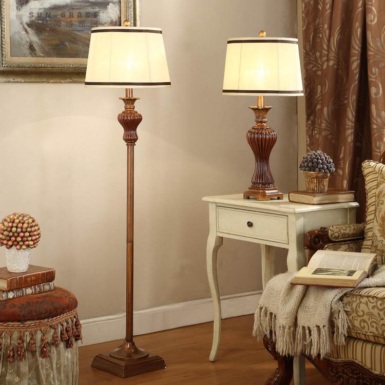 欧式台灯落地灯 美式复古客厅书房卧室床头立式台灯 宜家创意时尚 价格:399.00