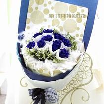 厦门花店订花送花,鲜花岛内免费配送,11、19朵蓝色妖姬玫瑰花束 价格:119.80