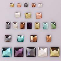 平底异形钻正方形宝石钻 手机壳贴钻diy材料包 配件 玻璃钻 批发 价格:0.15