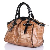 女包2013新款潮复古鳄鱼纹女包时尚漆皮真皮大包牛皮手提单肩包女 价格:299.00