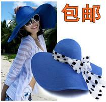 包邮 韩版 夏天女加厚大草帽 大沿帽遮阳帽太阳帽子沙滩帽巴拿马 价格:15.00