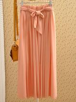 七月家 松紧腰设计半身裙子 大裙摆配腰带雪纺修身夏季显瘦2013新 价格:52.00