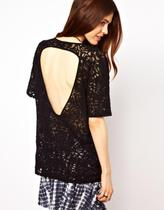 【琼子代购】英国正品ASOS7.14T-Shirt with Open Back in Lace 价格:177.00
