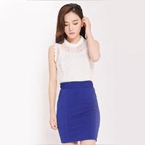2013韩版新款夏秋装特价包邮花边高领无袖蕾丝衫配吊带两件套上衣 价格:48.00