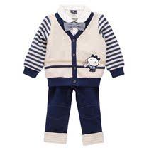 2013秋装爆款韩国童装allo lugh阿路和如男童长袖长裤假三件套装 价格:69.00