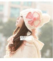 帽子 女 冬天可爱蝴蝶帽子 秋冬季女士辫子帽毛线帽子 价格:40.00