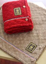 日本原单 森系简约纯色菱格 珊瑚绒 毛毯 空调毯 可做小披风 4色 价格:25.00