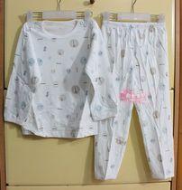 清仓价 小素材 竹纤维 夏季超薄款儿童长袖内衣套装 睡衣 空调服 价格:17.78