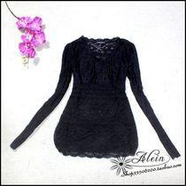 欧洲站DOLCE&GABBANA弹性蕾纱性感小衫特价A15_4 价格:68.00