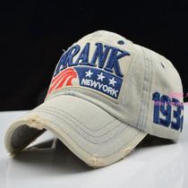韩版潮复古FRANK棒球帽STAR73秋季男女帽遮太阳帽鸭舌帽子牛仔帽 价格:25.00