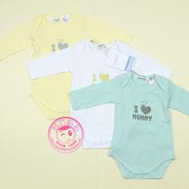 外贸原单男女早产儿婴幼儿童装短袖三角爬服哈衣连体衣夏季纯棉 价格:6.80