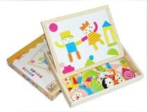 包邮益知乐品牌木制儿童磁性新款拼拼乐画板写字板3-6岁儿童黑板 价格:43.90