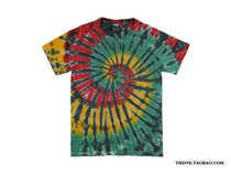《牙买加》黑条纹版 手工扎染T恤 tiedye 美式圆筒纯棉T恤 价格:75.00
