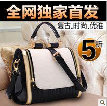 宾尼兔2013新款韩版英伦复古潮包包女士单肩时尚撞色女斜挂手提包 价格:99.00
