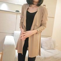 2013秋装韩版中长款开衫毛衣外套女款针织衫长长袖新款修身通勤领 价格:78.00