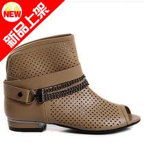 热卖 新款韩版夜店低跟罗马鞋 鱼嘴凉鞋夏季皮带扣套脚 透气女鞋 价格:101.00