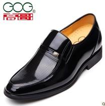 高哥内增高男鞋 商务正装皮鞋 秋季黑色正装潮流婚鞋 内增高6.5CM 价格:378.00