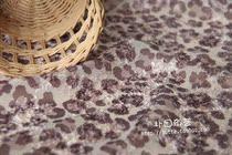 朴田〓进口面料 手工DIY布料 日本KAKO 独特性感毛毛豹纹图案雪纺 价格:10.00