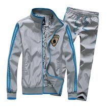 青少年套装男秋装休闲卫衣套装男中学生运动外套健身衣服男士套装 价格:110.88