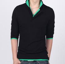 森马正品新款 男装T恤 秋装男士加肥加大码 长袖t恤修身韩版潮t恤 价格:48.00