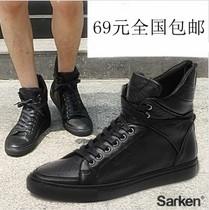 包邮韩版男马丁靴 潮流短靴 休闲男士高帮鞋 街舞潮鞋 英伦男鞋子 价格:69.00