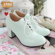 精选特价2013秋季新款单鞋春秋款秋天的女鞋子粗跟高跟女式鞋潮 价格:69.00