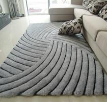 梦吉尔 新品 免洗加厚3D立体弹力丝地毯300D细丝客厅茶几卧室地毯 价格:92.00