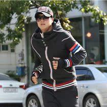 秋冬男士新款运动外套 小爸爸连帽学生套装 加绒加厚青年卫衣男潮 价格:127.20