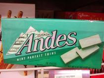 双皇冠代购原装进口零食 安迪斯Andes双层薄荷巧克力132g 浅绿 价格:22.00