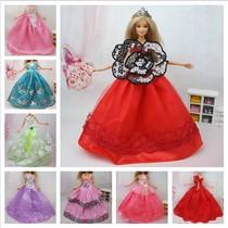 皇冠特价芭比娃娃barbie可儿乐吉儿衣服装多款婚纱礼服 满额包邮 价格:5.50