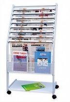 太阳升 铝合金报刊架TYS-95A  带轮 价格:185.00