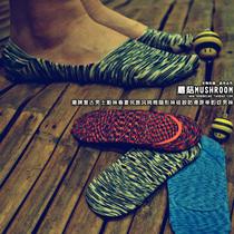 潮牌复古男士船袜春夏民族风纯棉隐形袜硅胶防滑原单豹纹男袜 价格:6.20