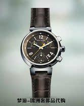法国专柜正品代购质保限量LV品牌Tambour中号棕色计时码表Q13210 价格:27999.00