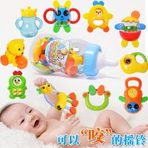 婴儿牙胶摇铃 新生儿手摇铃 宝宝玩具安全咬胶套装 婴儿玩具0-1岁 价格:18.80