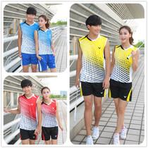 2013年新款羽毛球服装男女套装 夏季无袖圆领运动服装情侣款 球衣 价格:58.00
