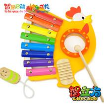 [宝宝不怕鸡]智立方大公鸡木制八音阶敲琴幼儿奥尔夫乐器教具音乐 价格:85.00