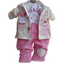 包邮童装宝宝秋装2013女童男童纯棉0-1岁背带裤婴儿服装三件套装 价格:66.00
