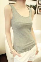 柚子町夏装新款百搭圆领修身无袖打底衫显瘦吊带背心 4色入 价格:35.00