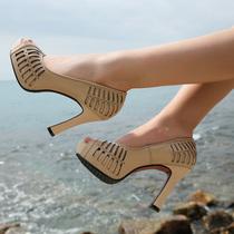 月牙儿女鞋柜shoebox珂卡夫芬迪巨日2013新款正品代购安玛莉凉鞋 价格:177.00