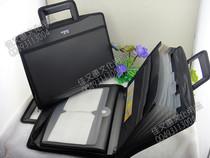 包邮实用多功能手提电脑包会议包事务包包公文包商务文件包风琴包 价格:31.05